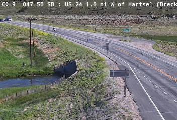 US-24 1.0mi W of Hartsel (Looking NB on CO 9) CDOT Weather And Traffic Cameras
