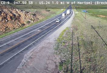 US-24 1.0mi W of Hartsel (Looking WB) CDOT Weather And Traffic Cameras
